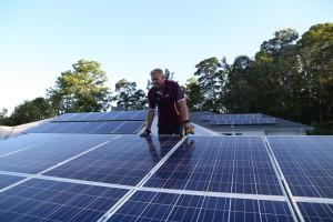 Sunshine Coast Hinterland Solar McDonald solar Dave with solar panels