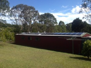 Sunshine Coast Home solar- McDonald Solar Country Shed